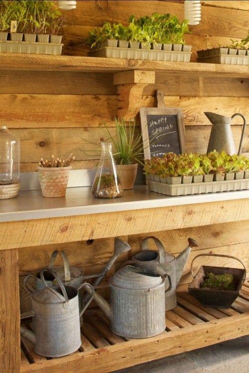 23 Praktiska förvaringsidéer för trädgårdsskjul    Trädgårdshusinteriörer.
