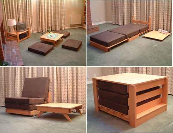 28 Multifunktionella möbler som ändrar funktion i ingen Ti
