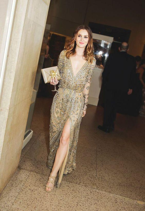 gyllene cocktail klänning slits