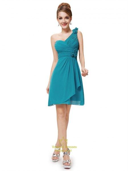 kricka brudtärna wrap klänning med en axel