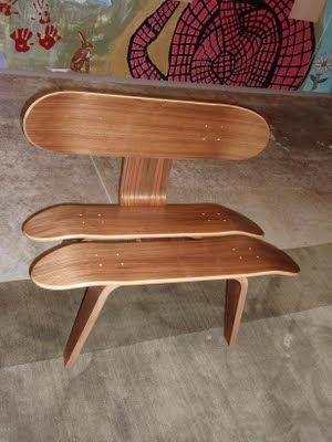 Skateboard solstol |  Skateboardmöbler, funktionella möbler.