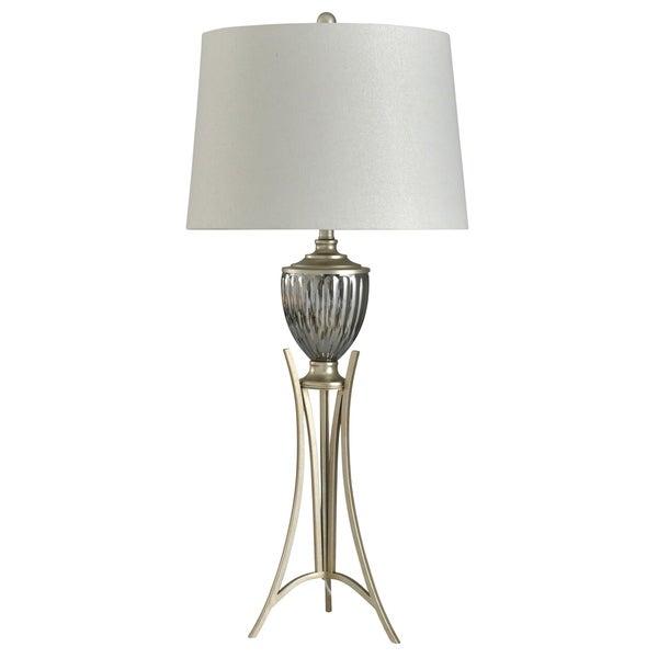 Handla Imperial Silver med Cadott Glam bordslampa - vit skugga.