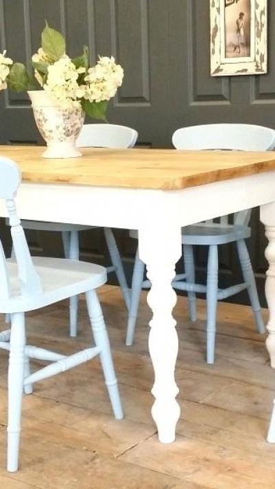 Grey Shabby Chic Kitchens Kitchen Set Table Lyxiga matbord.