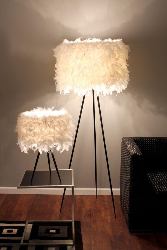 5 enkla sätt att ge glam till varje interiör |  Fjäderlampa, Funky.