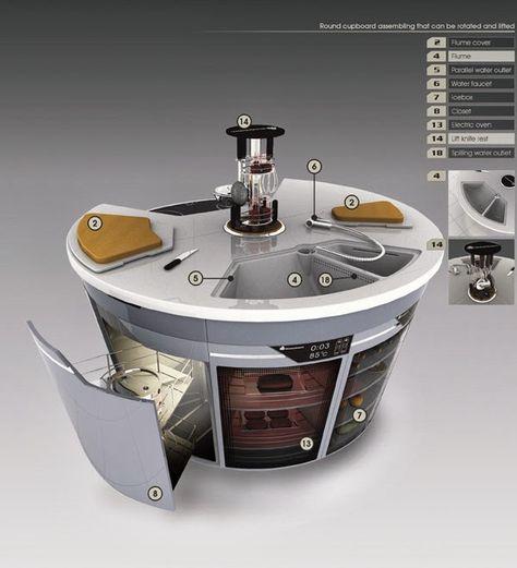Smart köksskåp från framtidens design ~ Kök.