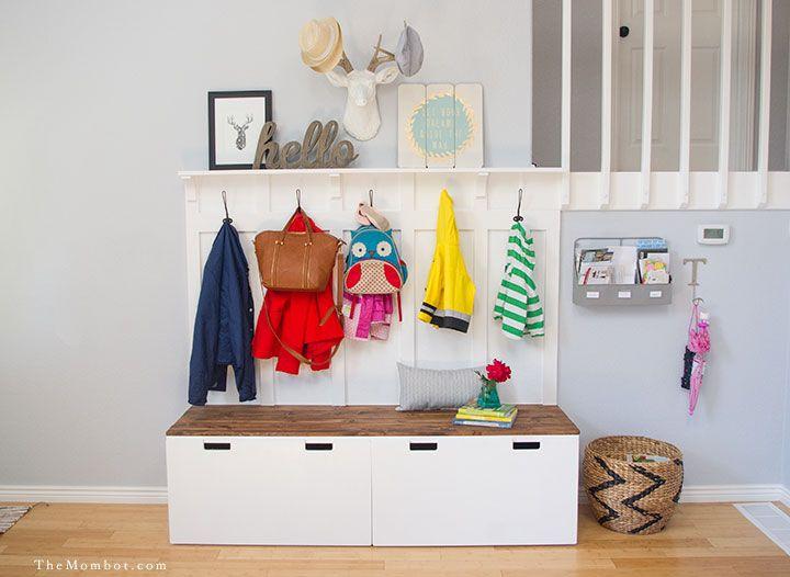 15 IKEA-hackar för din entré - förvarings- och mudroomförvaringside