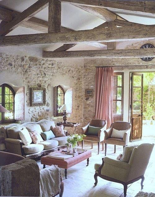34 Bedårande och romantiska Provence-vardagsrum |  Salong campagnard.