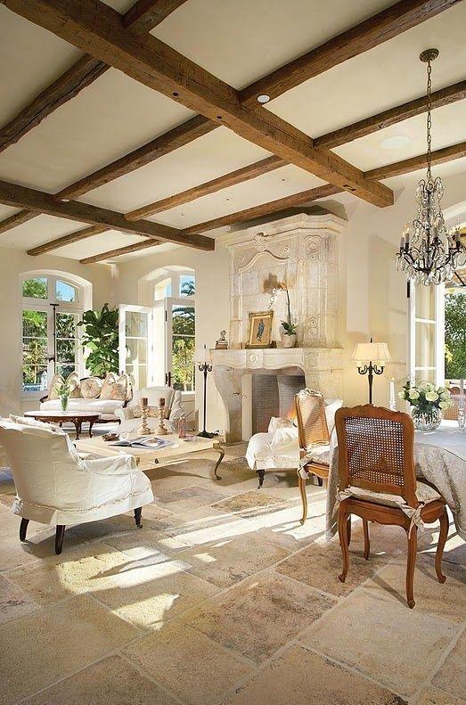 34 Bedårande och romantiska Provence-vardagsrum - DigsDig… |  Franska.
