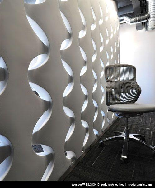 Weaver av ModularArts, Inc. Sculptural Screen Walls Mycket dramatisk.