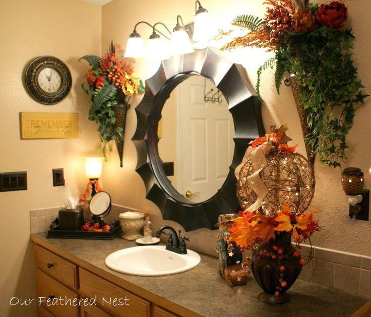 20 badrumsidéer perfekt för hösten |  Höstens badrumsdekor, Fall.
