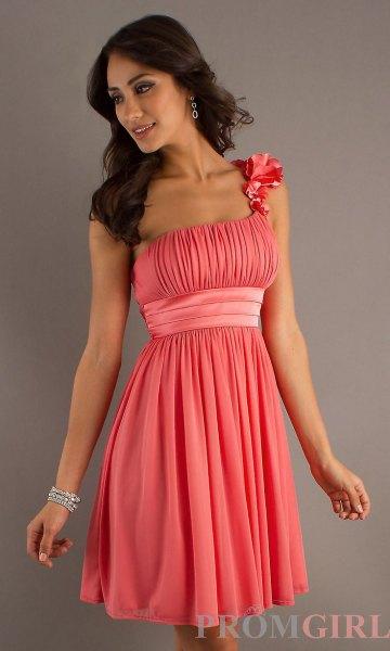 rosa veckad bälte mini cocktail klänning