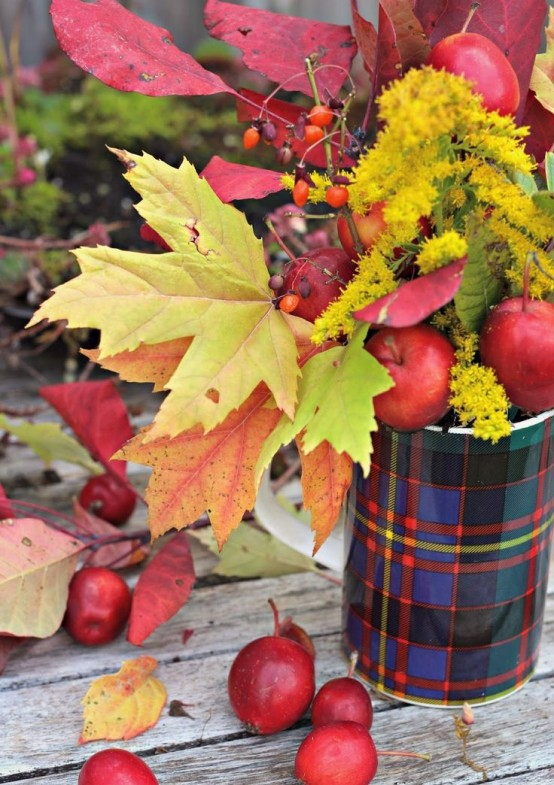 32 varma och mysiga rutiga inredningsidéer för tacksägelse - DigsDi