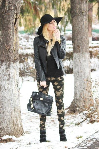 svart läderjacka Army Pants