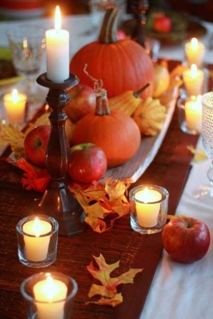 27 mysiga och söta ljusdesignidéer för hösten    Höstbord, höst.