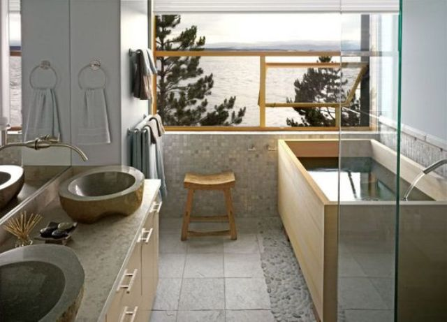 41 Fredliga japanskinspirerade badrumsinredningsidéer - DigsDi