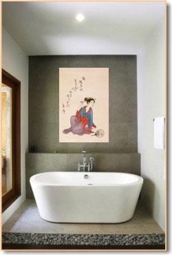 Japansk badrumsinredning    Interiörer Imag