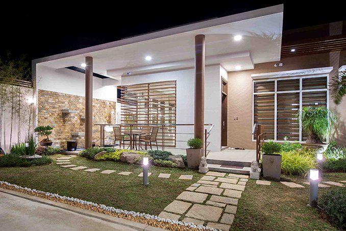 Ett modernt familjehem i Balagtas, Bulacan |  Modernt bungalowhus.