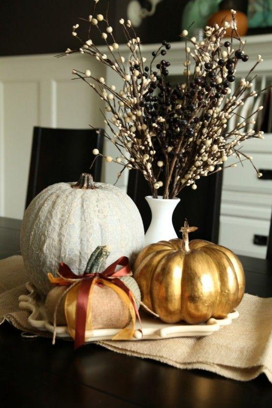 40 Amazing Fall Pumpkin Centerpieces    DigsDigs    Höstpumpa.