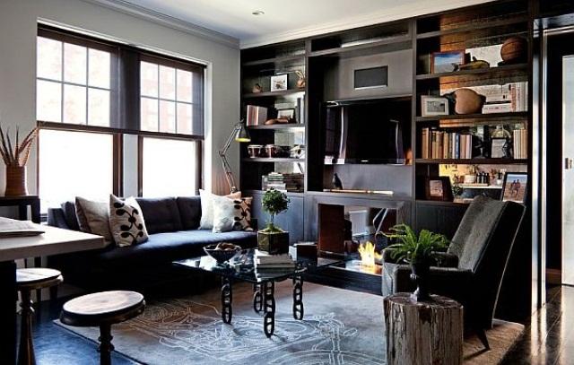 85 Awesome Maskuline Living Room Design Ideas - DigsDi