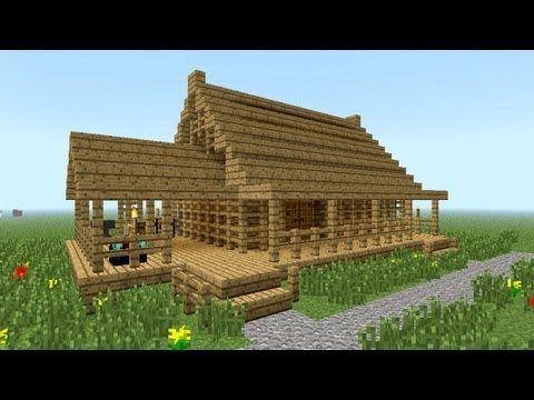 MINECRAFT: Hur man bygger litet trähus |  Minecraft-hus.