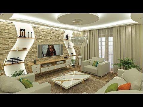 Bästa 100 moderna vardagsrumsdesign - POP-undertak för hall.