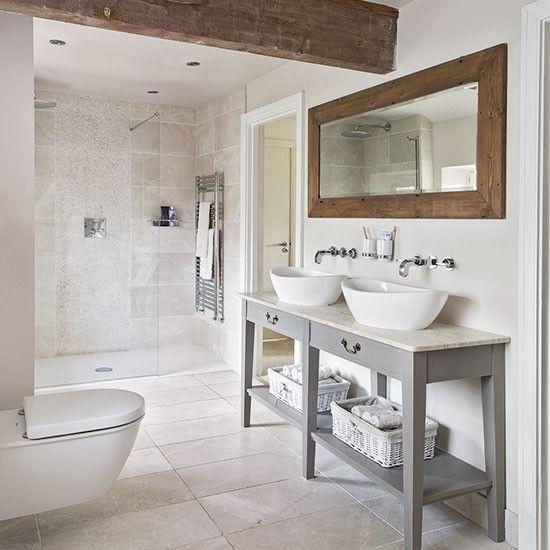 50 badrum med synliga träbjälkar - DigsDi