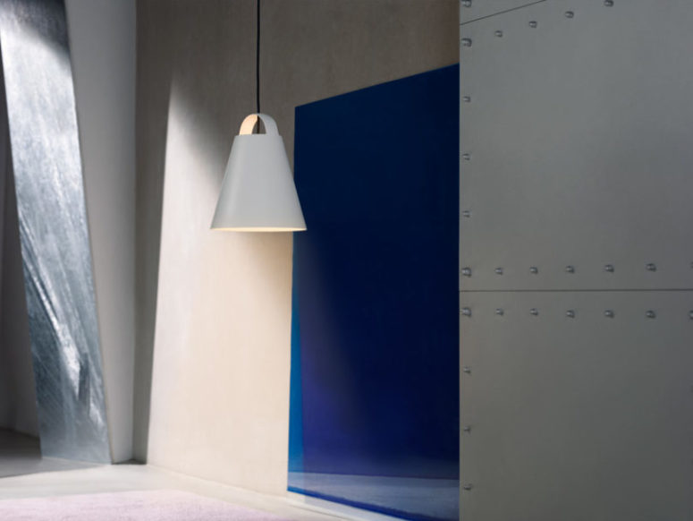 Ovan hänglampa med organisk minimalistisk form - DigsDi