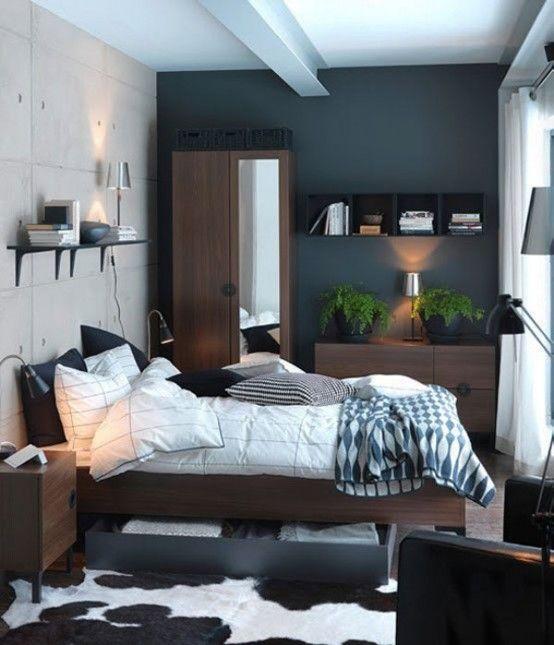 33 smarta idéer för små sovrum |  DigsDigs |  Litet sovrum.