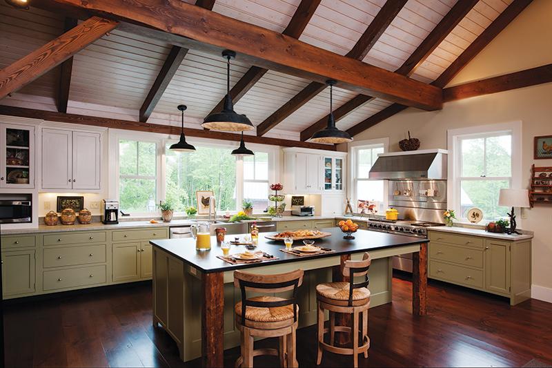Hur man utformar ett rustikt, men ändå modernt kök - New Hampshire Home.