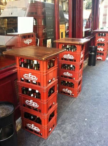 Plastkassastolar 25 Idéer |  Öllåda, lådabord.