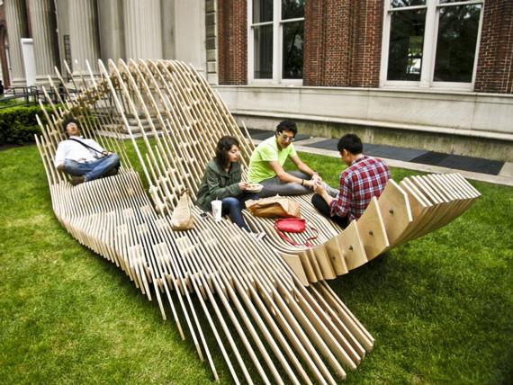 Unika trädgårdsmöbler |  Försöker balansera Madne