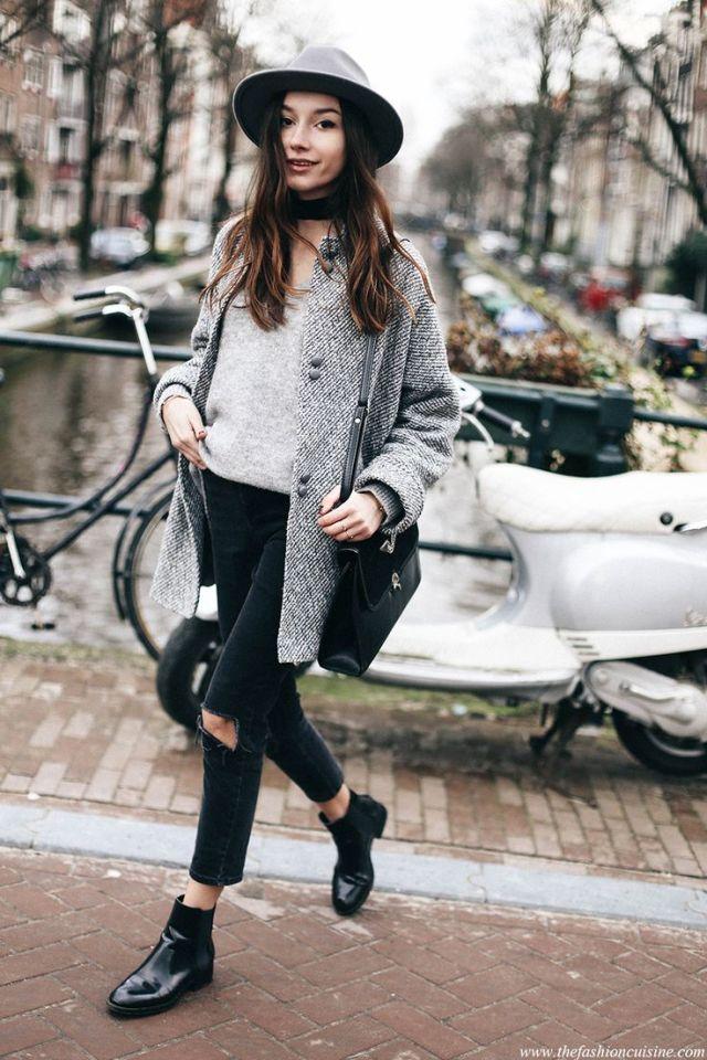 Mellanrock capri jeans stövlar
