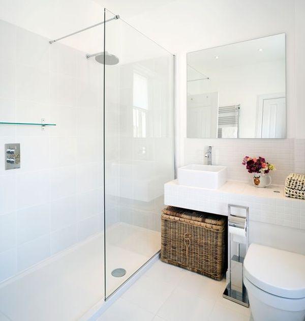 Vita badrum kan också vara intressanta - ny designidé