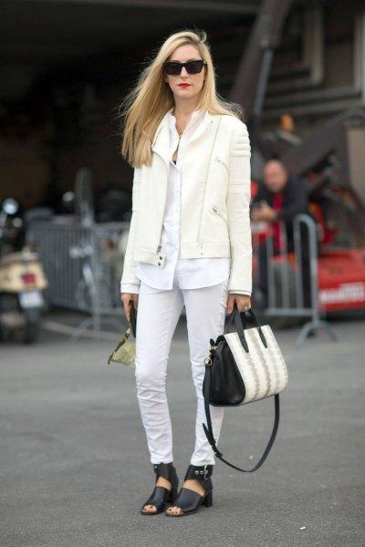 överdimensionerad vit knäppt skjorta jeans outfit