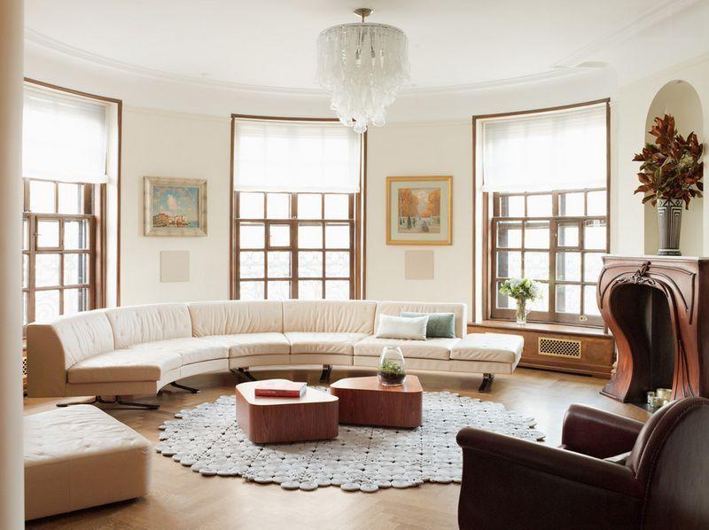 Top 3 Statement-Piece Soffor |  Böjt soffa vardagsrum, bondgård.