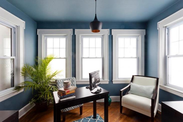 21+ blå hemmakontorsdesigner, dekorationsidéer    Designtrender.
