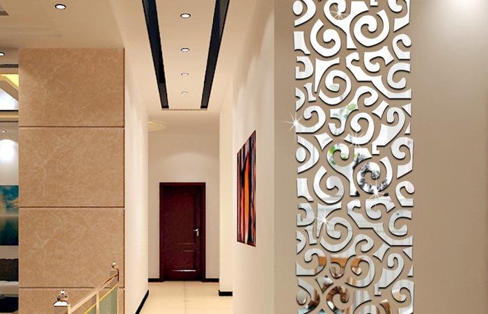 Väggdekoration Med Speglar Heminredning Idéer Dekorativa.