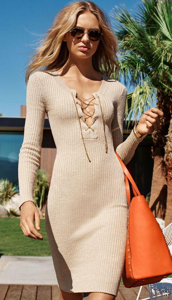 Slips bröstklänning elegant stickad