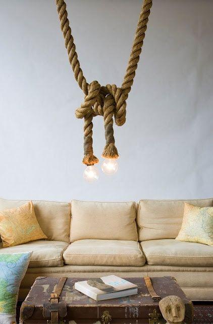 Hur man införlivar rep i heminredningen: 34 idéer |  Enkelt.