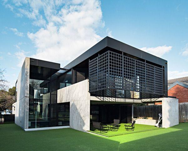 Ett djärvt modernistiskt hus |  Plastolux |  Modern arkitekturdesign.