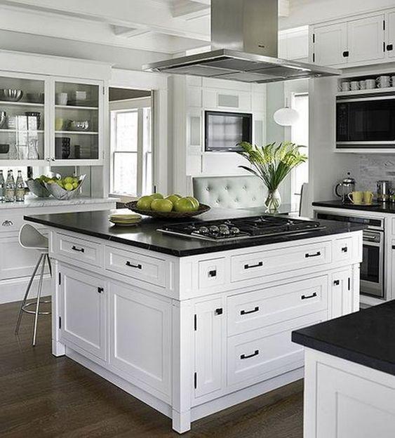 25 trendiga kontrasterande bänkskivor för ditt kök - DigsDi
