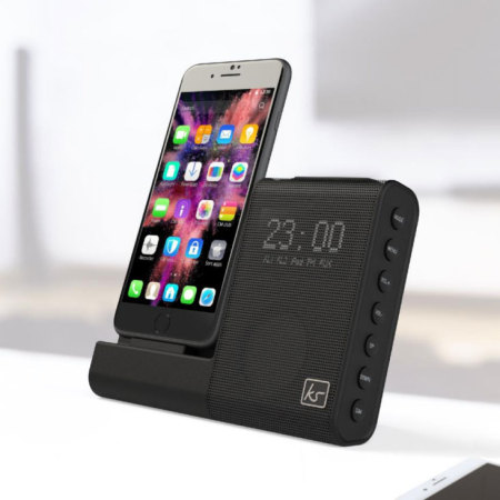 KitSound X-Dock 4 iPhone Lightning-radiohögtalardock - Bla