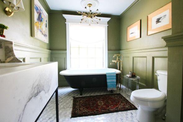 Ta bilder av det nya badrummet - Little Green Notebook    Grön.