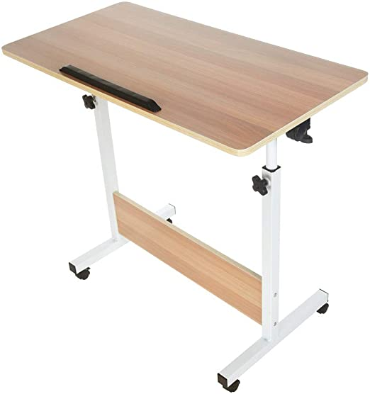 Amazon.com: Justerbart vikbart bärbar sidobord - Han Shi trä.