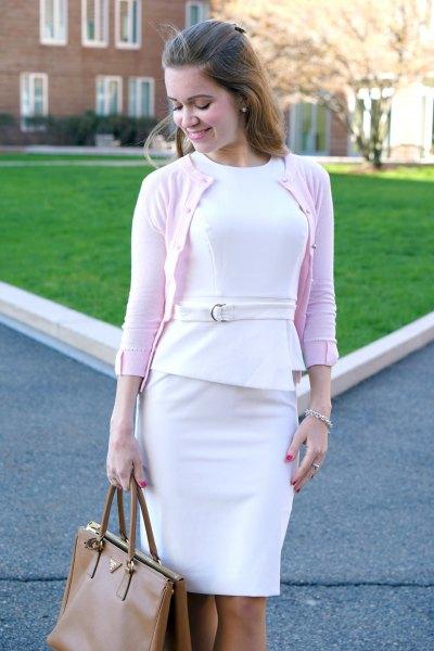 vit peplum klänning vit kofta