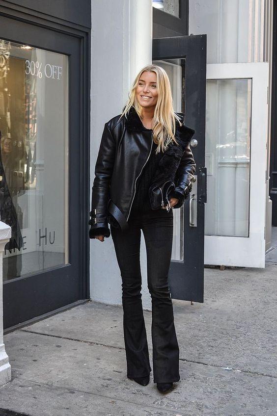 svarta jeans