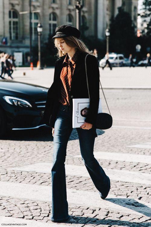Parisian Chic Bell Bottom Jeans