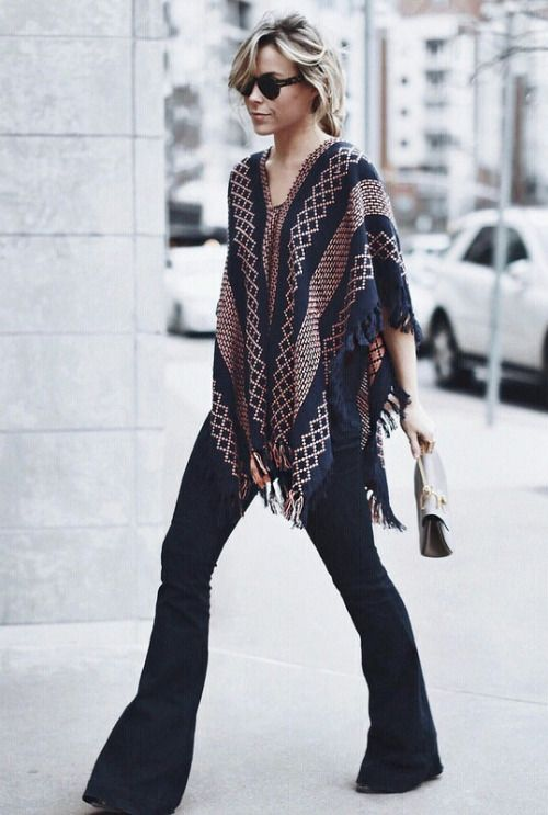 Poncho Bell Bottom Jeans