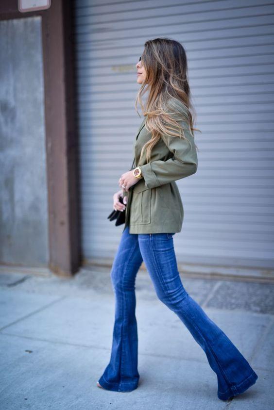 Parka Bell Bottom Jeans