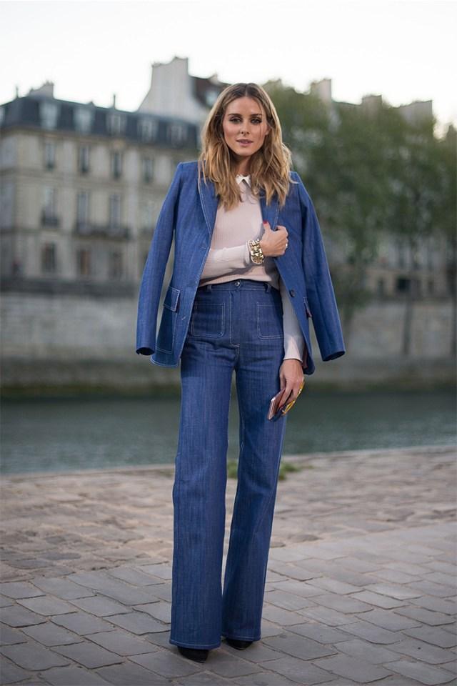 Jeans med klockbotten